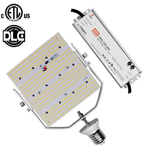 120W LED Retrofit Kit, Daylight 5000K E39 Mogul Base Commercial Parking Lot 480V 347Volt Replace 400Watt Metal Halide Shoebox Pole Lights AC185-528V Input (120) (400 Watt Metal Halide Parking Lot Lights)