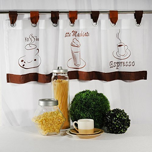 Moderne Kaffee - Gardine
