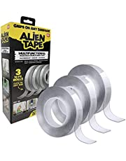 Alientape Nano Double Sided Tape Reusable Washable Transparent Traceless Multi-Purpose Adhesive Tape with Nano-Grip Technology for Indoor and Outdoor Mounting Tape As Seen On TV (Set of 3)