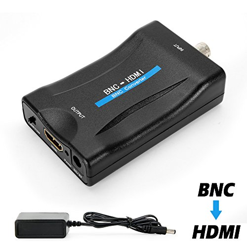 - MakeTheOne BNC Female to HDMI Video Converter Adapter Box for Security Camera CCTV Monitor with 720P / 1080P HD Output Switch
