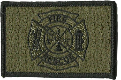 Fire Rescue Patch - Fire Rescue Tactical Patches - Olive Drab