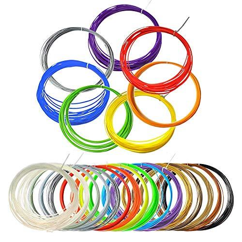 TIANSE 3D PLA Filament for 3D Pen (15 Colors, 16.5 Feet Each) 1.75mm Filament Packs