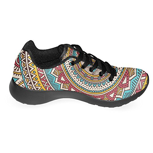 InterestPrint Womens Jogging Running Sneaker Lightweight Go Easy Walking Casual Comfort Running Shoes Vintage Mandala Floral Decorative Multi 1 QsgGpvMQaK