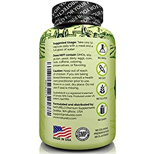 NATURELO One Daily Multivitamin for Men - with Whole Food Vitamins, Organic Extracts - Natural Supplement - Best for Energy, General Health - Non-GMO - 120 Capsules   4 Month Supply