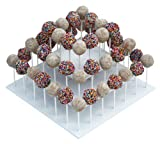 "The Smart Baker 3 Tier Square White Cake Pop Stand, Holds 52 Cake Pops ""As Seen on Shark Tank"""