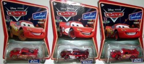 Disney Pixar Cars Movie on Supercharged Cards: The 3 Mcqueens: Bug Mouth, Radiator Springs, and Dirt Track by Disney
