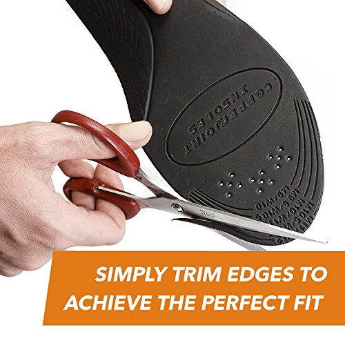 CopperJoint - Copper-Infused Orthotic Insoles, Moisture Wicking Shoe Inserts Offer Firm Arch Support to Help Relieve Foot Soreness, Pair (Large) by CopperJoint (Image #3)