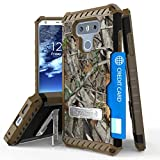 LG G6 Case, Mstechcorp Hybrid Rugged Full Body Armor Defender Cover with kickstand, Card Slot & Rotating Belt Clip Holster for LG G6 with Goodie (Camo)