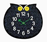 Telechron  Zoo Timer Owl Wall Clock, Blue/Black
