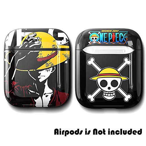 AirPods Case Soft TPU Shockproof Cover for Apple Airpods 2 1,One Piece Luffy Unique Design Skin Kits Cases with Carabiner Holder for Girls Kids Teens Smooth Wireless Charging Air Pods (Monkey D Luffy)