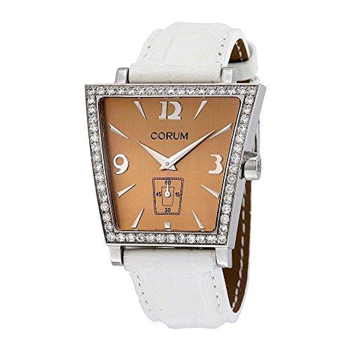 Corum Trapeze White Leather Diamond Ladies Watch 106404470009CR51