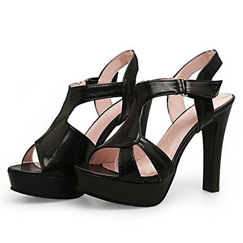 Black High TAOFFEN Dress Heel Sandals Women Elegant Platform Party Block Shoes x1qwRFgv1