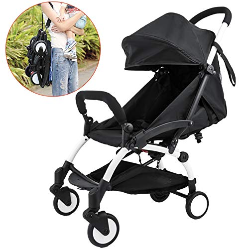 Happybuy 2 in 1 Portable Baby Stroller Lightweight Folding Stroller for 6 Month and Up to 15KG Baby Travel System Mini Infant Carriage Folding Pushchair Small Foldable Stroller