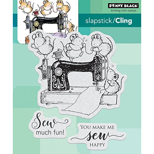 Penny Black Sew Much Fun Cling Unmounted Rubber Stamp (40-533) by Penny Black