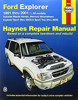 ford explorer 1991 2001 explorer sport thru 2003 sport trac 2005 rh amazon com 1997 Ford Explorer XLT 1997 ford explorer repair manual online