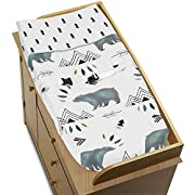 Sweet Jojo Designs Changing Pad Cover for Bear Mountain Watercolor Collection by