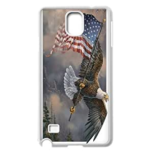 Custom Phone Case American Eagle and Flag For Samsung Galaxy NOTE4 Case Cover APPL8305699