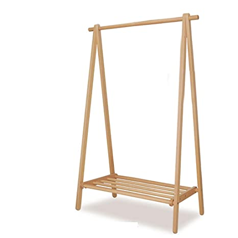 Amazon.com: Gaoye - Perchero plegable de madera maciza para ...