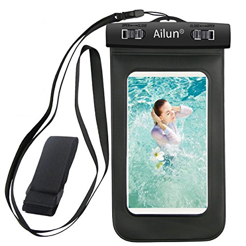 Waterproof iphone 6 case,Armband,Ailun Bag universal for iPhone 7/6 Plus/6/6s/5s/5c,Samsung Galaxy S6/EDGE/S5/S4/NOTE 4/3/2,Nexus 6/5/4,LG G4/3,Xperia Z3/2/1,Boating/Hiking/Swimming/Diving[Black] (Iphone 5c Diving Case)