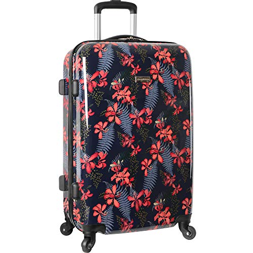(Tommy Bahama Carry On Hardside Luggage Spinner Suitcase, Iris Print)