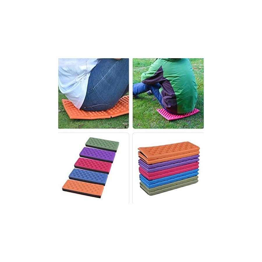 Picnic Mat Pad WINOMO Foldable Outdoor Camping Mat Seat Foam XPE Cushion Portable Waterproof Chair Picnic Mat Pad (Red)