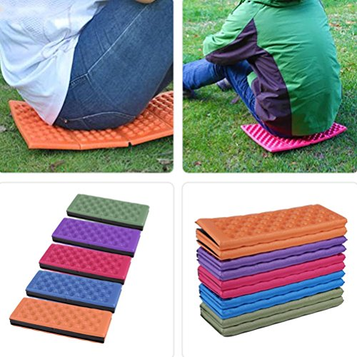 Picnic Mat Pad WINOMO Foldable Outdoor Camping Mat Seat Foam XPE Cushion Portable Waterproof Chair Picnic Mat Pad (Red)