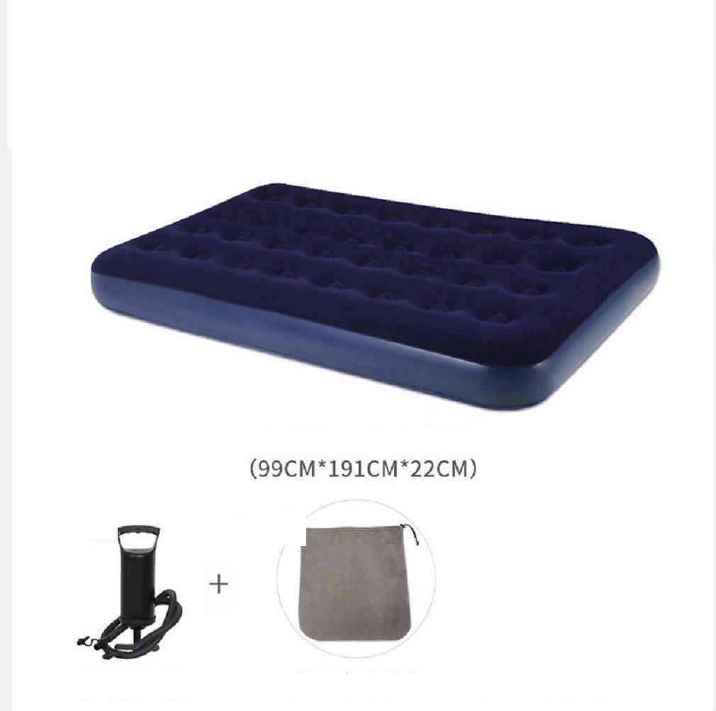 YOPEEN Doppelter Haushalt, aufblasbares Bett, Luftkissen, Einzelne Faule Zeltmatratze, Starke Tragbare Mittagspause im Freien, 99x190x22cm