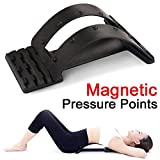 Aptoco Magic Back Support Stretcher Spine Stretcher Lumbar Support Massager, Device for Back Stretching Pain Reliever Spinal Decompression