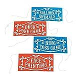 Carnival Signs - 4 per pack