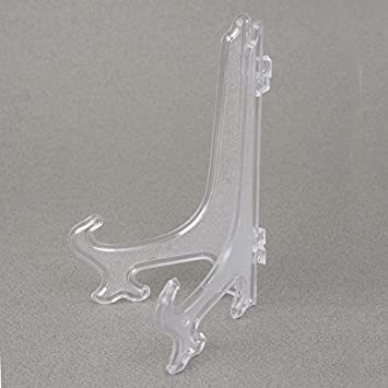 8 clear plastic plate display stand picture frame easel holder qty 12 pieces