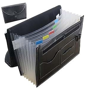 oak pine multifunction expandable portable accordion a4 file folder document wallet. Black Bedroom Furniture Sets. Home Design Ideas