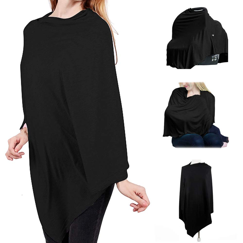 Muilti-use Stretchy Scarf Versatile Cover for Baby Lightweight Shawl Poncho for Women