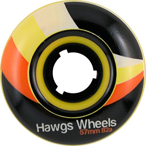 用心深い城宣言Hawgs Street 57mm 82a Yellow Skate Wheels by Hawgs