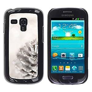 Paccase / SLIM PC / Aliminium Casa Carcasa Funda Case Cover para - White Acorn Glitter Snow Christmas - Samsung Galaxy S3 MINI NOT REGULAR! I8190 I8190N