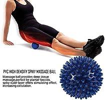 LouiseEvel215 PVC High Density Spiky Massage Ball Fu/ßschmerzen /& Plantar Fasciitis Reliever Behandlung Igel Ball Massage Akupressur Ball