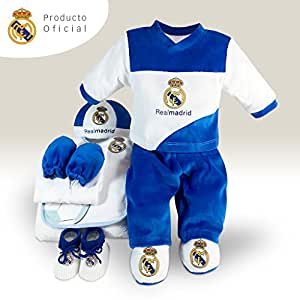 aaa8c161dc28b Conjunto para bebé Real Madrid compuesto de 9 piezas  Amazon.es  Bebé