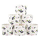 Webake Large Paper Cake Baking Cup Cupcake Muffin Cases,Set of 25 (Blueberry)
