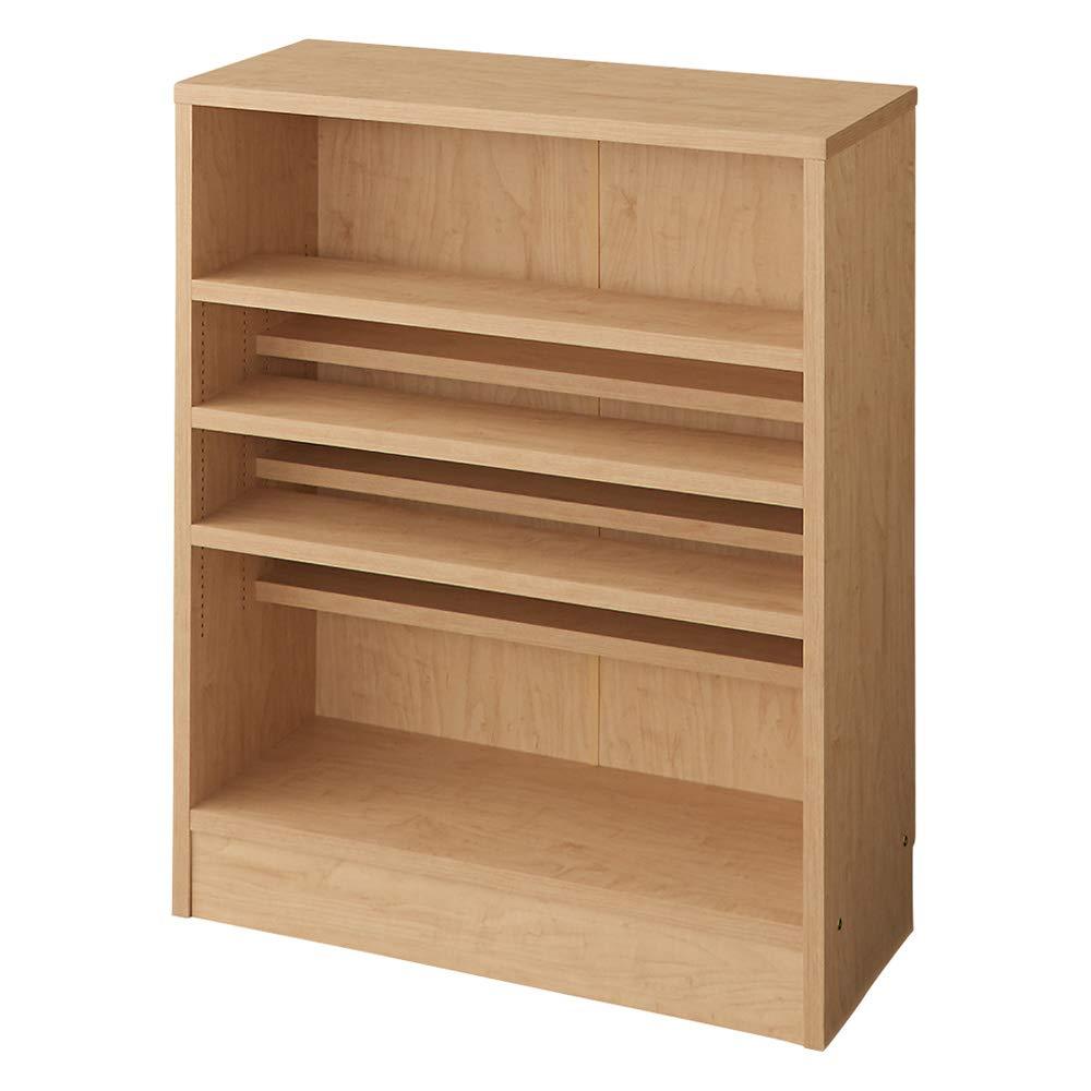 本を効率的収納!薄型段違い棚付き本棚(幅70cm高さ85cm) 692133(サイズはありません イ:ナチュラル) B07SLJGTMV イ:ナチュラル