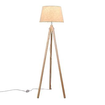 Massivholz drei Beine Rack faltbare Stehlampe, kreative einfache ...