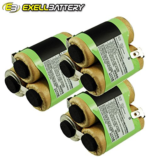 3x Exell Ni-MH 3.6V Battery Fits