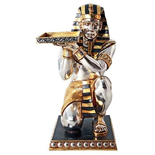 - Design Toscano Egyptian Pharaoh's Kneeling Servant Egyptian Side Table Statue