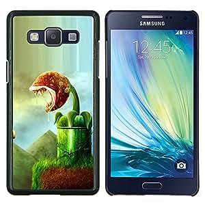 Caucho caso de Shell duro de la cubierta de accesorios de protección BY RAYDREAMMM - Samsung Galaxy A5 A5000 - Planta de Arte del monstruo verde Naturaleza Bosques Tropicales