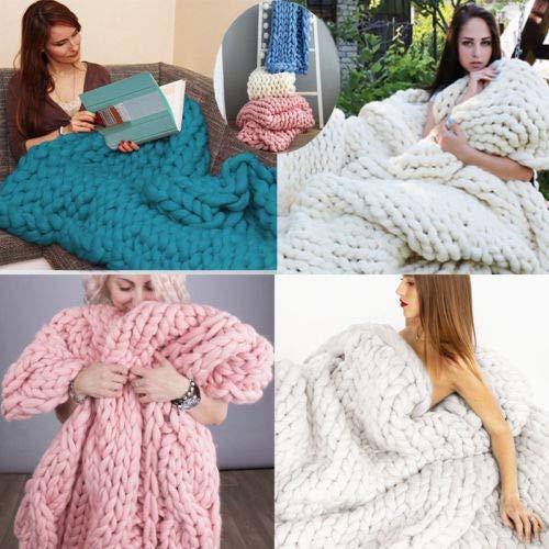 Amazon.com: Lovis.Q - Manta de lana gruesa de lana gruesa ...