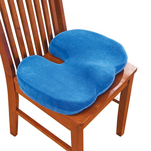 Memory Foam Chair Cushion Blue