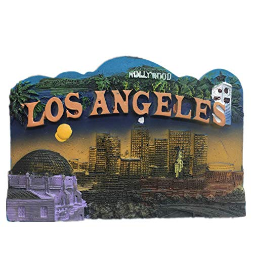 Universal Studios Hollywood Los Angeles America USA Fridge Magnet 3D Resin Handmade Craft Tourist Travel City Souvenir Collection Letter Refrigerator Sticker]()