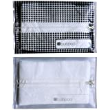 Butipods Slim Wet Wipe Travel Case Holder 2 Pack | Reusable Refillable Portable Stay Moist Dispenser Container | Also for Makeup Wipes (Houndstooth Clear)
