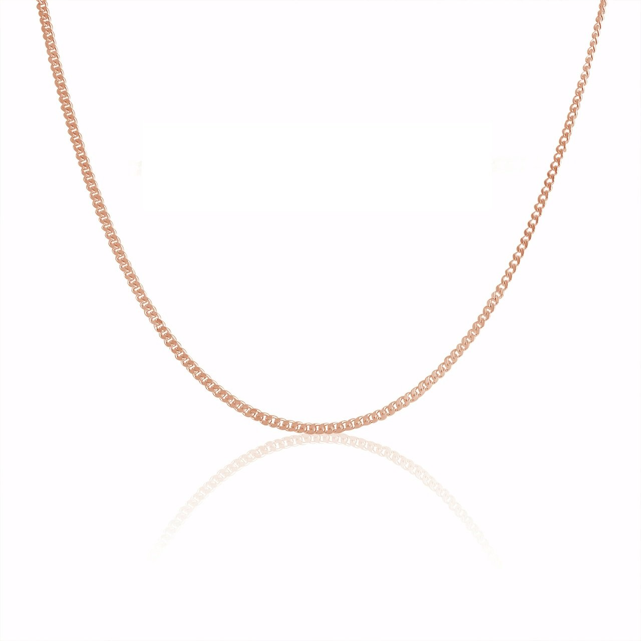 14K Gold 1.1MM Thin Curb/Cuban Chain Necklace- Available in Yellow, White or Rose-16-24 Pori Jewelers