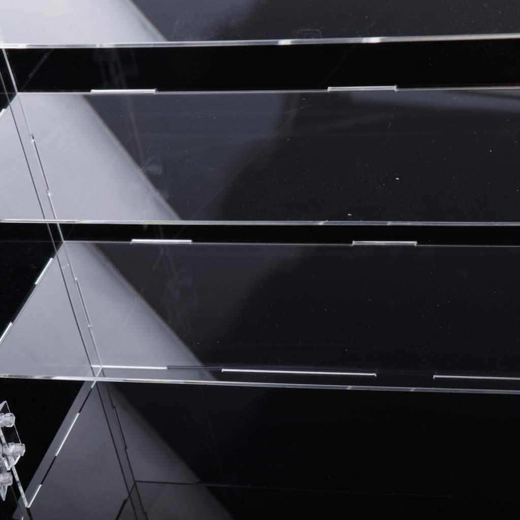 24x24x30cm Sharplace Vitrina de Acr/ílico a Prueba de Polvo de 3 Capas para Bloques Colecci/ón de Juguetes de Ladrillos 32 x 10 x 24 cm