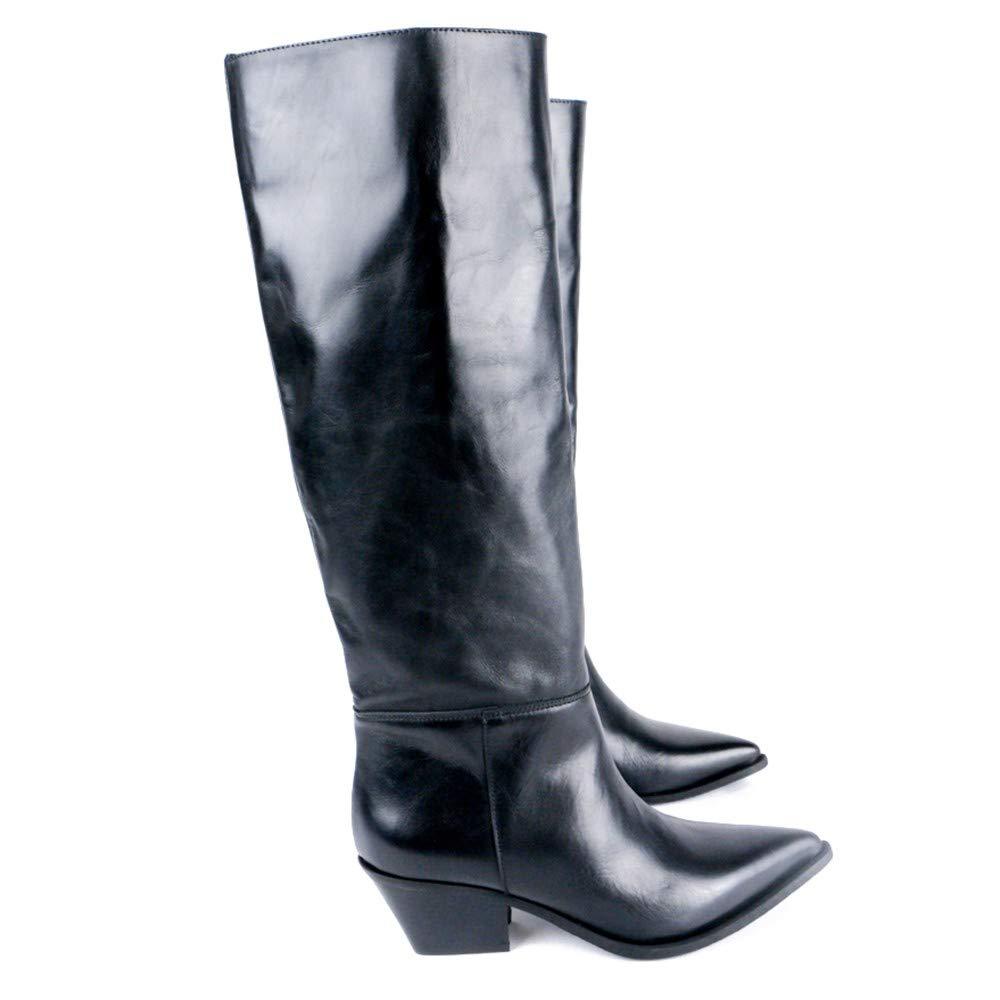 Divine Follie Hoher Stiefel aus texanischem Leder