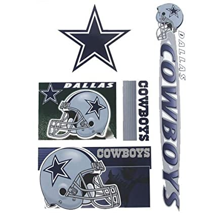 a5f8d58d Amazon.com: Dallas Cowboys SET OF 5 ULTRA DECALS Removable & Reusable NFL  Window Decals: Everything Else